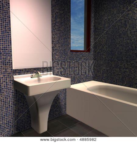Modern House-bathroom