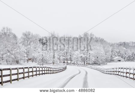 Snow covered countryside