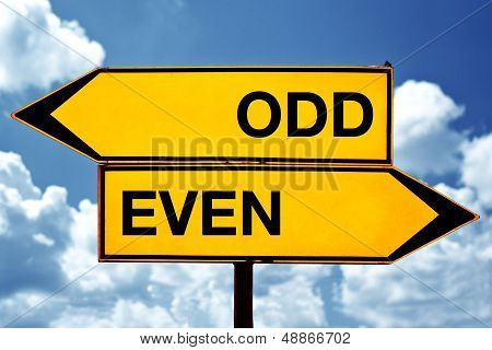 Odd Or Even, Opposite Signs
