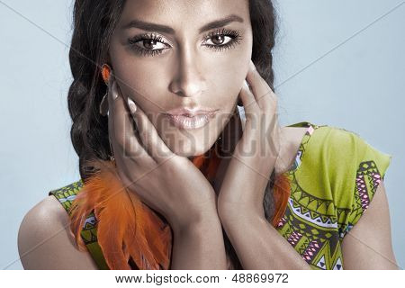 Portrait Of Young Multi Ethnic Woman.