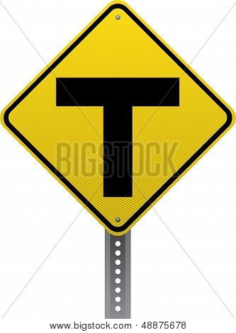 T-intersection Sign