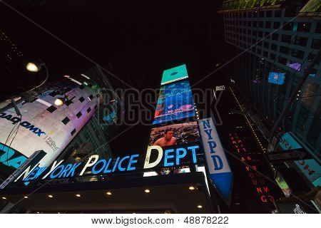 New York City - Nypd Sign. The New York City Police Department