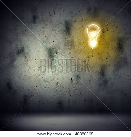 Background image with electric bulb illustration. Idea concept