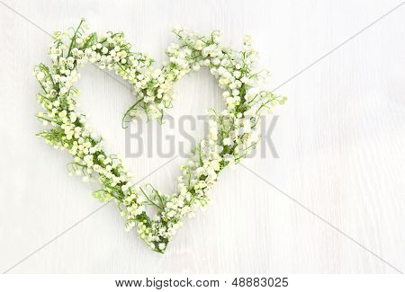 Flower Wreath Of Lilys Of Valley