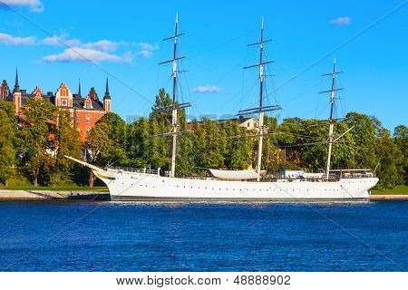 Historical ship 'AF Chapman'' in Stockholm, Sweden