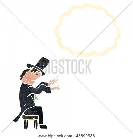 pianista de dibujos animados retro
