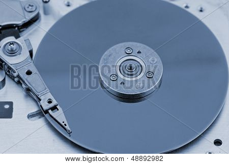 Open Computer Hard Drive On White Background