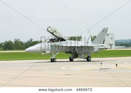 F-18 On The Runway