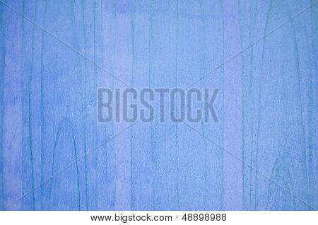 Blurred Blue Wooden Wall