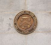 stock photo of treasury  - Seal on Treasury Building in Washington D - JPG