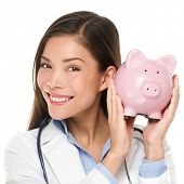 stock photo of piggy  - Healthcare concept  - JPG