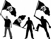picture of anarchists  - set of vector illustration  - JPG