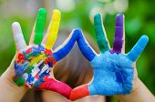 stock photo of finger-painting  - Child - JPG