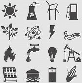 foto of fire-station  - Energy icons  set - JPG
