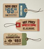 stock photo of reduce  - Price Tags - JPG