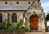 stock photo of chapels  - church door - JPG