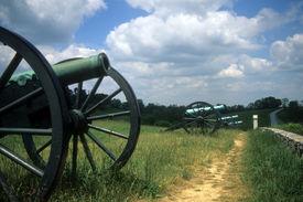 stock photo of rebs  - Napoleon artillery battery Antietam National Battlefield American Civil WarMaryland  - JPG