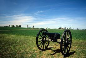 picture of rebs  - Napoleon 12 lb cannon near Peach Orchard Gettysburg National Historical BattlefieldPennsylvania  - JPG