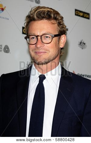LOS ANGELES - JAN 11:  Simon Baker at the  2014 G'Day USA Los Angeles Black Tie Gala at JW Marriott Hotel at L.A. LIVE on January 11, 2014 in Los Angeles, CA