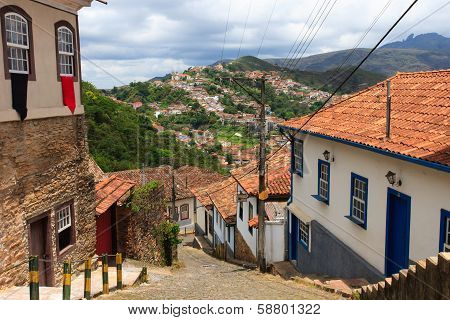 Streets Of Ouro Preto, Brazil