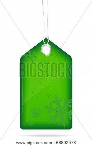 Green Christmas Price Tag