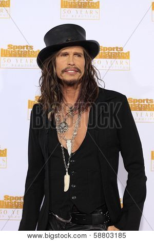 LOS ANGELES - JAN 14:  Steven Tyler at the 50th Sports Illustrated Swimsuit Issue at Dolby Theatre on January 14, 2014 in Los Angeles, CA