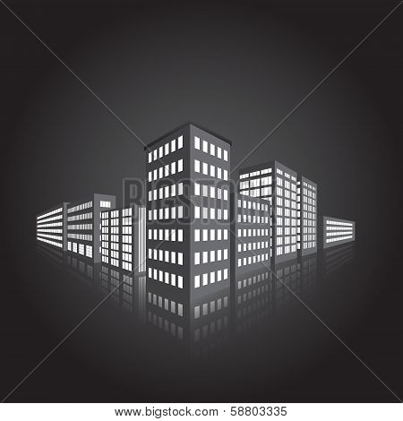Perspective Of The City, The Lights In The Windows
