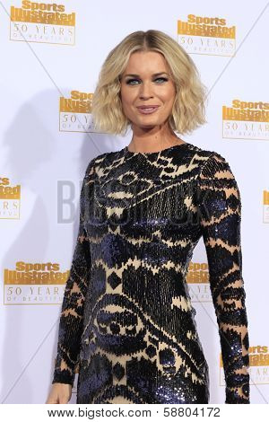LOS ANGELES - JAN 14:  Rebecca Romijn at the 50th Sports Illustrated Swimsuit Issue at Dolby Theatre on January 14, 2014 in Los Angeles, CA