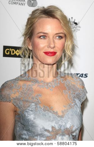 LOS ANGELES - JAN 11:  Naomi Watts at the  2014 G'Day USA Los Angeles Black Tie Gala at JW Marriott Hotel at L.A. LIVE on January 11, 2014 in Los Angeles, CA