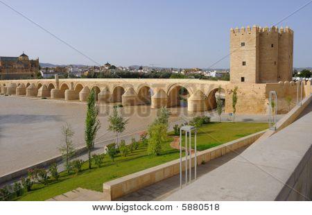 Roman bridge and Calahorra old tower Cordoba Spain