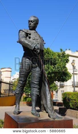 Famous Matador Curro Romero statue in Seville Spain