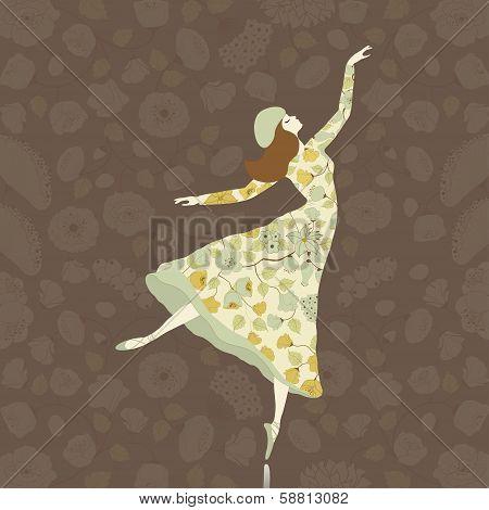 Dancer In Floral Dress