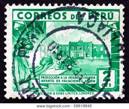 Postage Stamp Peru 1938 Children's Holiday Center, Ancon