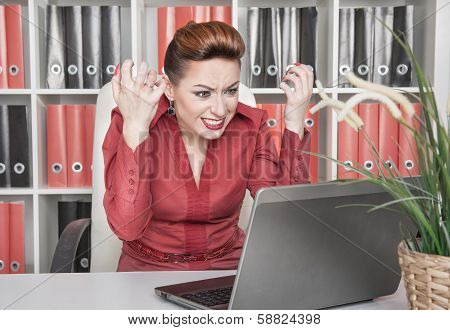 Angry Screaming Business Woman