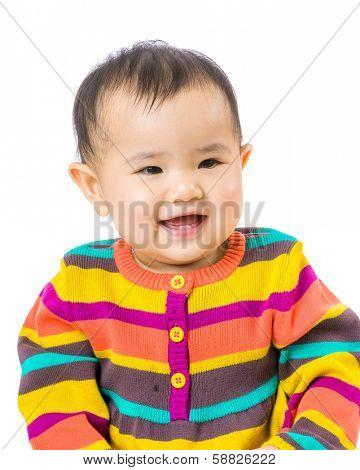 Baby feel happy