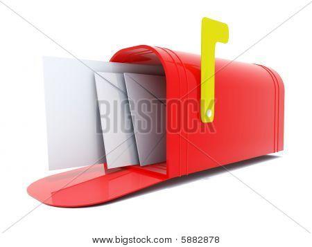 Full red mailbox