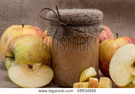 Fresh Made Applesauce With Apples