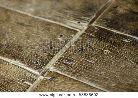 Old parquet detail