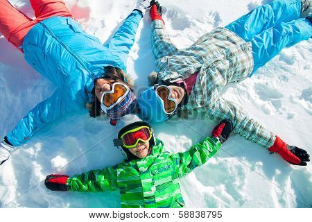 Ski, winter, snow, skiers