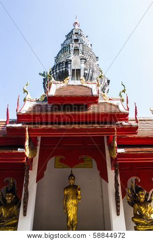 Pagoda In Wat Kru Toa , Chiangmai Thailand