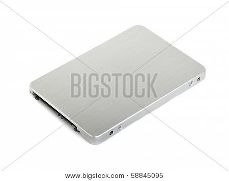 SSD drive isolated on white background