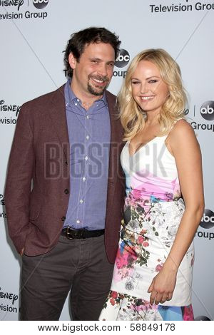LOS ANGELES - JAN 17:  Jeremy Sisto, Malin Akerman at the Disney-ABC Television Group 2014 Winter Press Tour Party Arrivals at The Langham Huntington on January 17, 2014 in Pasadena, CA