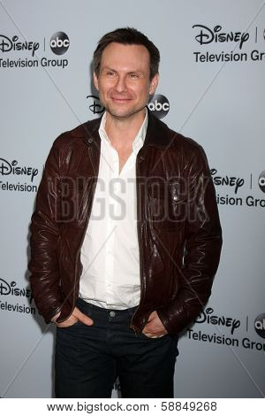 LOS ANGELES - JAN 17:  Christian Slater at the Disney-ABC Television Group 2014 Winter Press Tour Party Arrivals at The Langham Huntington on January 17, 2014 in Pasadena, CA