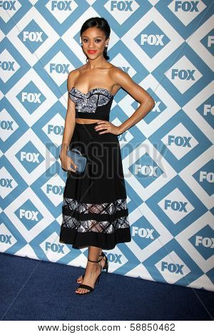 LOS ANGELES - Jan 13:  Tiffany Boone at the  FOX TCA Winter 2014 Party at The Langham Huntington Hotel onJanuary 13, 2014 in Pasadena, CA
