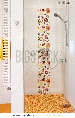 Colorful Modern Shower