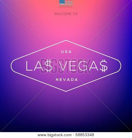 World Cities labels - Las Vegas.