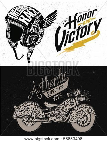 Motorcycle Themed  handmade drawing collection
