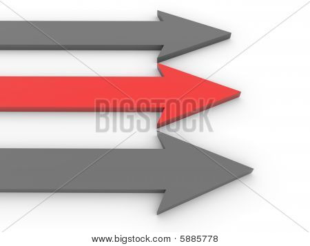 Black And Red Arrows Neck And Neck