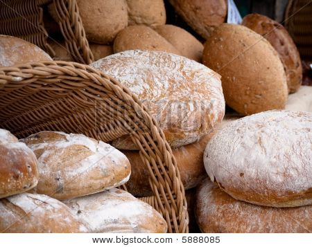 Bread from a local outdoor market
