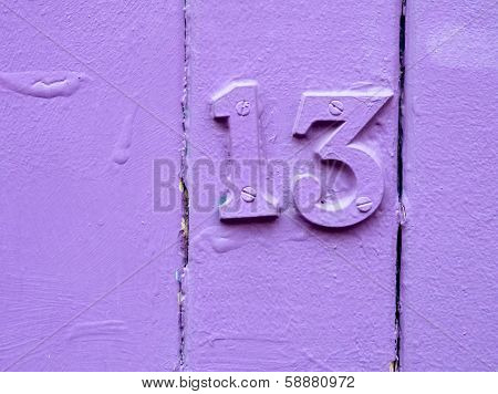 Unlucky Purple Thirteen